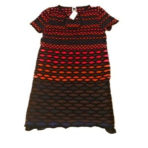 Missoni Stretch Knit A Line Multi Color Dress